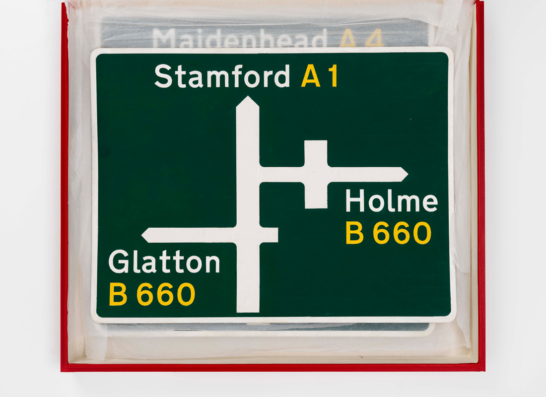 Transport new road sign maquette